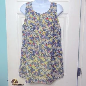 Cabi Flora Lines Tunic Style Blouse